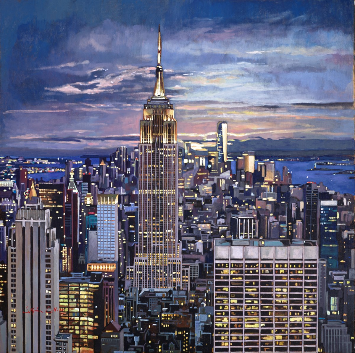 New York VIII by stephen collett -  sized 31x31 inches. Available from Whitewall Galleries